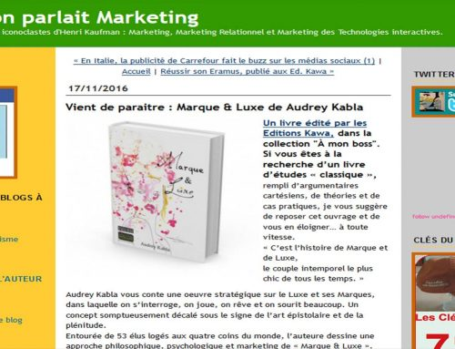 """Henri Kaufman talks about the book """"Marque & Luxe"""""""