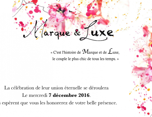 """Marque & Luxe"": Book launch on December 7!"