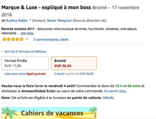 Marque & Luxe dans le monde et sur Kindle !